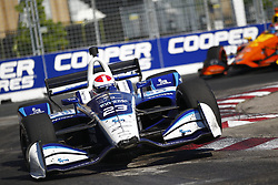 July 15, 2018 - Toronto, Ontario, Canada - CHARLIE KIMBALL (23) of the United States battles for position during the Honda Indy Toronto at Streets of Toronto in Toronto, Ontario. (Credit Image: © Justin R. Noe Asp Inc/ASP via ZUMA Wire)