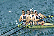 Munich, GERMANY, GBR M4-, Bow, Tom LUCY, Steve WILLIAMS, Peter REED and Andy TWIGGS HODGE during the FISA World Cup at the Munich Olympic Rowing Course, Thur's.  08.05.2008  [Mandatory Credit Peter Spurrier/ Intersport Images] Rowing Course, Olympic Regatta Rowing Course, Munich, GERMANY