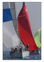 Bell Lawrie Series Tarbert Loch Fyne - Yachting.The third day's inshore races, which transpired to be the last..GBR6R, Crackerjack, a Swan 45 owned by Keith Miller, heading downwind with Swan 45 Fever astern..