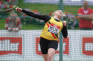 Elise Bue competing in the Women's Discus Throw Final. The British Championships 2016, athletics event at the Alexander Stadium in Birmingham, Midlands  on Sunday 26th June 2016.<br /> pic by John Patrick Fletcher, Andrew Orchard sports photography.