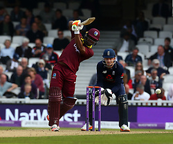 September 27, 2017 - London, England, United Kingdom - Evin Lewis of West Indies.during One Day International Series match between England and West Indies at The Kia Oval, London  on 27 Sept , 2017  (Credit Image: © Kieran Galvin/NurPhoto via ZUMA Press)