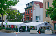 Tents at eatery during COVID-19, 2020, Easton, PA