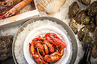 """Sweden's own Big Five: shrimp, oyster, crayfish, mussel, and lobster – are collectively known as """"skaldjur"""" in Swedish."""
