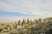 Göreme is a town of rock-cut dwellings that include troglodyte villages and underground towns - the remains of a traditional human habitat dating back to the 4th century.
