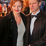 NLD/Amsterdam/20101128 - Opening Delamar theater, Sanne Wallis de Vries en partner Jacko van 't Hof