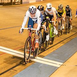 28-12-2015: Wielrennen: NK Baan: Alkmaar   <br />ALKMAAR (NED) baanwielrennen<br />Op de wielerbaan van Alkmaar streden de wielrenners om de nationale baantitels  <br />Vera Koedooder pakt de titel in de puntenkoers
