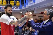 Ivanov Deyan, Marino Fernando<br /> Happycasa Basket Brindisi - The Flexx Pistoia<br /> Legabasket SerieA 2017-2018<br /> Brindisi 28/01/2018<br /> Foto Ciamillo-Castoria / Michele Longo