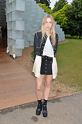 LYZA HENDERSON at a party hosted by fashion store COS to celebrate The Serpentine Park Nights 2016 held at The Serpentine Gallery, Kensington Gardens, London on 12th July 2016.
