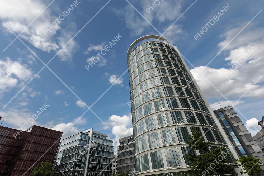 Detail verticality of modern building in Hamburg