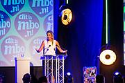 HOUTEN, 03-09-2021, Yuverta<br /> <br /> Koningin Maxima opent het mbo-jaar 2021-2022 en houdt een toespraak. Het thema van de opening is 'ondernemen naar een betere toekomst'.Yuverta in Houten is dit jaar namens alle mbo-scholen gastheer van de bijeenkomst FOTO: Brunopress/Patrick van Emst<br /> <br /> Queen Maxima opens the MBO year 2021-2022 and gives a speech. The theme of the opening is 'entrepreneurship towards a better future'.Yuverta in Houten will host the meeting this year on behalf of all MBO schools