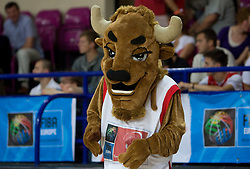 Official mascot Mieszko during the basketball match at 1st Round of Eurobasket 2009 in Group C between Slovenia and Serbia, on September 08, 2009 in Arena Torwar, Warsaw, Poland. Slovenia won 84:76. (Photo by Vid Ponikvar / Sportida)