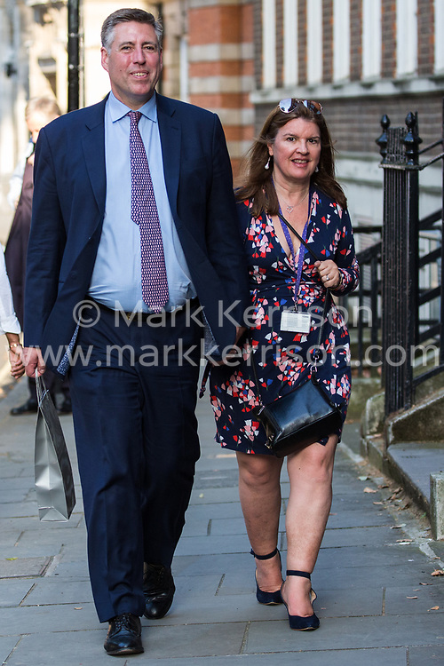 London, UK. 23 July, 2019. Sir Graham Brady, Chairman of the 1922 Committee, arrives to attend a celebration in Westminster of Boris Johnson's election as Conservative Party leader and replacement of Theresa May as Prime Minister organised by the pro-Brexit European Research Group (ERG).