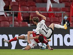 Andreas Christensen (Danmark) og Dries Mertens (Belgien) under UEFA Nations League kampen mellem Danmark og Belgien den 5. september 2020 i Parken, København (Foto: Claus Birch).