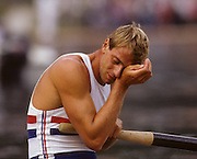 Bled, Slovenia, YUGOSLAVIA. GBR M2+, and M2-, Stroke, Steven REDGRAVE. Coxed Pair and Coxless Pair .1989 World Rowing Championships, Lake Bled. [Mandatory Credit. Peter Spurrier/Intersport Images]