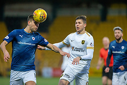Raith Rovers Dave McKay and Livingston Lyndon Dykes. Livingston 3 v 1 Raith Rovers, William Hill Scottish Cup played 18/1/2020 at the Livingston home ground, Tony Macaroni Arena.