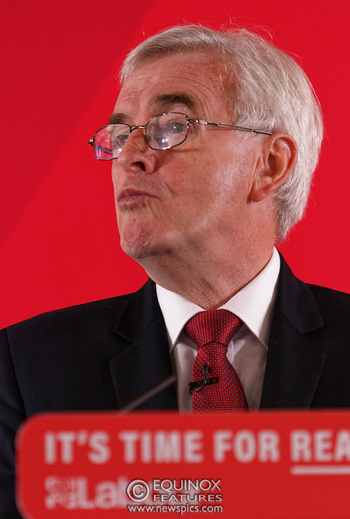 London, United Kingdom - 9 December 2019<br /> John McDonnell gives an economics speech in the run up to the general election 2019, on behalf of the Labour Party at Coin Street Community Builders, London, England, UK.<br /> (photo by: EQUINOXFEATURES.COM)<br /> Picture Data:<br /> Photographer: Equinox Features<br /> Copyright: ©2019 Equinox Licensing Ltd. +443700 780000<br /> Contact: Equinox Features<br /> Date Taken: 20191209<br /> Time Taken: 11143303<br /> www.newspics.com