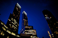 The Time Warner Center looms over Columbus Circle in New York. (Photo by Robert Caplin)