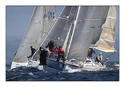 Brewin Dolphin Scottish Series 2011, Tarbert Loch Fyne - Yachting - Day 2 of the 4 day series. Windy!.IRL1332 ,Equinox ,Ross McDonald, Howth YC ,X332..