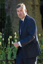 Downing Street, London, April 25th 2017. Chief Secretary to the Treasury David Gauke attends the weekly cabinet meeting at 10 Downing Street in London. Credit: ©Paul Davey