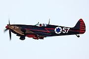 Israeli Air force Supermarine spitfire MK. IX in flight