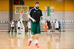 Ziga Dimec during Practice session of Slovenian National basketball team before FIBA Basketball World Cup China 2019 Qualifications against Belarus, on November 20, 2017 in Arena Stozice, Ljubljana, Slovenia. Photo by Vid Ponikvar / Sportida