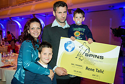 Family of Rene Talic during SPINS XI Nogometna Gala event when presented best football players of Prva liga Telekom Slovenije, on May 14, 2014 in Hotel Union, Ljubljana, Slovenia. Photo by Vid Ponikvar / Sportida