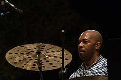 July 3, 2017 - Rome, Italy, Italy - The saxophone tenor performed live on the stage of the Casa del Jazz in Rome in the music show 'Summertime 2017' accompanied by James Francies on the piano and keyboards and by Eric Harland on drums. (Credit Image: © Leo Claudio De Petris/Pacific Press via ZUMA Wire)