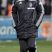 Besiktas's coach Bernd SCHUSTER during their Turkish Superleague Derby match Besiktas between Trabzonspor at the Inonu Stadium at Dolmabahce in Istanbul Turkey on Sunday, 06 March 2011. Photo by TURKPIX