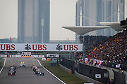 April 20, 2014 - Shanghai, China. UBS Chinese Formula One Grand Prix. Start of the Chinese GP