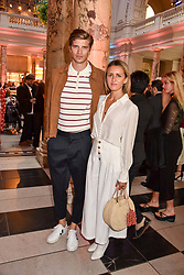 "Toby Huntington-Whiteley and Cecily Brown at the opening of ""Frida Kahlo: Making Her Self Up"" Exhibition at the V&A Museum, London England. 13 June 2018."