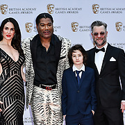 Danielle Bisutti, Christopher Judge, Sunny Suljic and Cory Barlog Arrivers at the British Academy (BAFTA) Games Awards at Queen Elizabeth Hall, Southbank Centre  on 4 March 2019, London, UK.