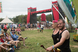 General views on Day 1 of the 2017 Glastonbury Festival at Worthy Farm in Somerset. Photo date: Friday, June 23, 2017. Photo credit should read: Richard Gray/EMPICS Entertainment