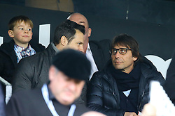 Chelsea manager Antonio Conte takes a seat to enjoy the match at craven cottage - Mandatory by-line: Jason Brown/JMP - 19/02/2017 - FOOTBALL - Craven Cottage - Fulham, England - Fulham v Tottenham Hotspur - Emirates FA Cup fifth round