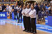 DESCRIZIONE : Supercoppa 2015 Semifinale Dinamo Banco di Sardegna Sassari - Grissin Bon Reggio Emilia<br /> GIOCATORE : Maurizio Biggi Roberto Begnis Gianluca Sardella<br /> CATEGORIA : Arbitro Referee Before Pregame<br /> SQUADRA : AIAP<br /> EVENTO : Supercoppa 2015<br /> GARA : Dinamo Banco di Sardegna Sassari - Grissin Bon Reggio Emilia<br /> DATA : 26/09/2015<br /> SPORT : Pallacanestro <br /> AUTORE : Agenzia Ciamillo-Castoria/L.Canu