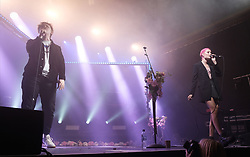 Lewis Capaldi surprises fans with Nina Nesbitt at SWG3 in Glasgow as part of her 'The Sun Will Come Up' UK Tour 2019 <br /> <br /> Pictured: Nina Nesbitt and Lewis Capaldi<br /> <br /> (c) Aimee Todd | Edinburgh Elite media