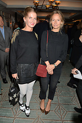 Left to right, COUNTESS ALEXANDRA TOLSTOY-MILOSLAVSKY and MARTHA WARD at a party hosted by Ewan Venters CEO of Fortnum & Mason to celebrate the launch of The Cook Book by Tom Parker Bowles held at Fortnum & Mason, 181 Piccadilly, London on 18th October 2016.