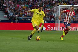 October 28, 2017 - Madrid, Spain - Bacca (L) and Gabi (R)..Draw at 1 in Wanda Metropolitano stadium. (Credit Image: © Jorge Gonzalez/Pacific Press via ZUMA Wire)