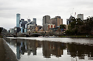 A view of the city of Melbourne from the banks of the Yarra River as the CBD stands as a virtual ghost town during COVID-19 in Melbourne, Australia. Victoria has recorded 14 COVID related deaths including a 20 year old, marking the youngest to die from Coronavirus in Australia, and an additional 372 new cases overnight. (Photo by Dave Hewison/Speed Media)