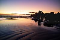 Sunset on the beach near Coronado, just outside of San Diego.