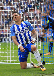 15 October 2017 -  Premier League - Brighton and Hove Albion v Everton - Anthony Knockaert of Brighton and Hove Albion rues a missed chance  - Photo: Marc Atkins/Offside