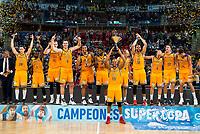 Herbalife Gran Canaria champion of the Supercopa Championship Liga Endesa 2016-2017 in Vitoria. September 24, Spain. 2016. (ALTERPHOTOS/BorjaB.Hojas)