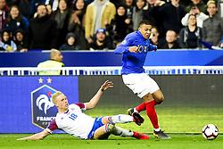 March 25, 2019 - St Denis, France, FRANCE - Kylian Mbappe (France) vs Hordur Bjorgvin Magnusson  (Credit Image: © Panoramic via ZUMA Press)