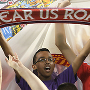 A Orlando City Lions supporter during a United Soccer League Pro soccer match between the Pittsburgh Riverhounds and the Orlando City Lions at the Florida Citrus Bowl on May 14, 2011 in Orlando, Florida. Orlando won the game 1-0. (AP Photo/Alex Menendez)