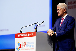 Bill Clinton during the last day of the AIDS Conference 2018 in Amsterdam, Netherlands, on July 27, 2018. Photo by Robin Utrecht/ABACAPRESS.COM