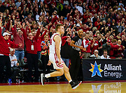 Wisconsin's Brad Davison reacts after hitting the game-winning 3-point basket against Maryland in the final seconds of an NCAA college basketball game Jan. 14. Wisconsin upset Maryland 56-54. (AP Photo/Andy Manis)
