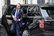 March 18, 2020, London, England, United Kingdom: Secretary of State for Health and Social Care Matt Hancock returns to 10 Downing Street in London, after attending the weekly session of PMQs, Wednesday, March 18, 2020. (Credit Image: © Vedat Xhymshiti/ZUMA Wire)