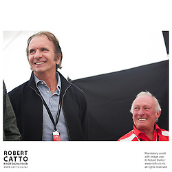 Emerson Fittipaldi;Chris Amon at the Launch of the Bruce McLaren Movie project at the A1 Grand Prix of New Zealand at the Taupo Motorsport Park, Taupo, New Zealand.