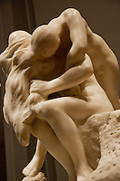 National Gallery, Washington DC. Sculpture of 2 lovers by Rodin