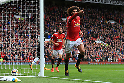 30th September 2017 - Premier League - Manchester United v Crystal Palace - Marouane Fellaini of Man Utd celebrates after scoring their 2nd goal - Photo: Simon Stacpoole / Offside.