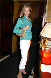 LISA BUTCHER at a party to celebrate Pamela Anderson's new role as spokesperson and newest face of the MAC Aids Fund's Viva Glam V Campaign held at Home House, Portman Square, London on 21st April 2005.<br />
